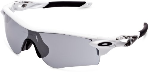 Oakley Men's Radarlock Path (a) Non-Polarized Iridium Wrap Sunglasses, Matte White, 38 mm