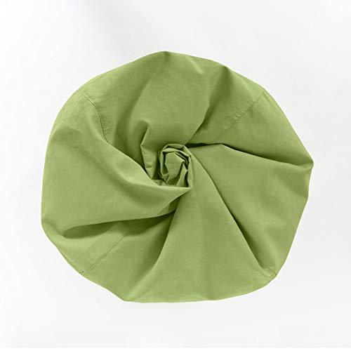 Lumaland Luxury XL Sitzsack stylischer Beanbag 120L Füllung verschiedene Farben Grün – Für alle Altersklassen - 6