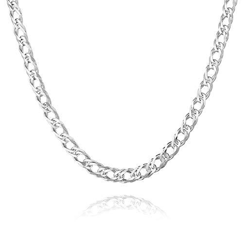 STERLL Herren Halskette Sterling-Silber 925 60cm Ohne Anhänger Geschenkverpackung Geschenke für Männer