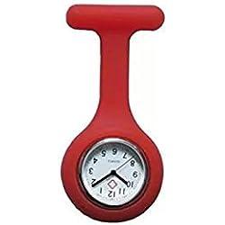 PromiseU Nurses Fob Watch Brooch Blue Silicon Gel Fob Watches