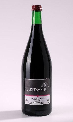 BIO Weingeschenkbox mit DropStop - Dornfelder Weingut Gustavshof Rheinhessen QbA 2010 1000ml Rotwein