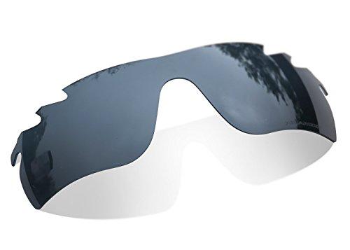 sunglasses restorer Kompatibel Ersatzgläser für Oakley Radarlock Vented OO9181 (Polarisierte Black Iridium Linsen)