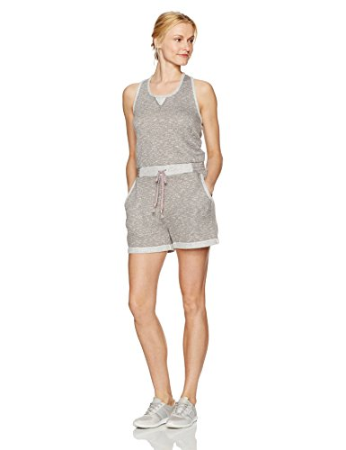 SHAPE activewear Women's Coco French Terry Romper, Steel Grey Heather, L
