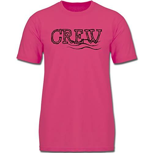 Sport Kind - JGA Crew - 164 (14-15 Jahre) - Fuchsia - F130K - Jungen Kinder T-Shirt