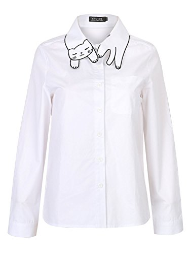 choies-womens-super-cute-cat-collar-plain-white-cotton-shirt-size-m