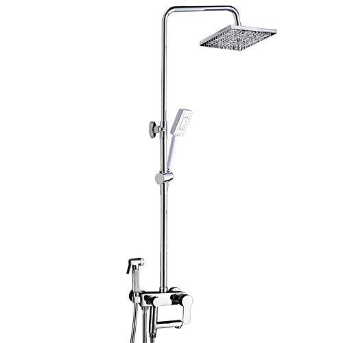 DLYZM Duschsystem Regendusche,Duschset Duschkopf-Mischbatterie 4-Funktion Duschsystem,Duschen Handbrause und Duschkopf Duschstange Duscharmatur