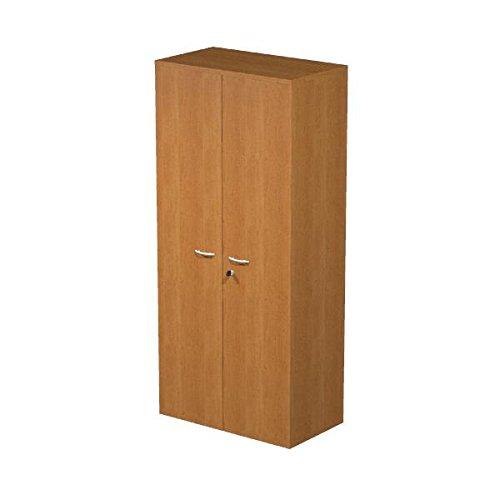 Ideapiu Mobile in Laminat Melamin Wenge mit Türen ohne Schloss, MIS. 80x 33x 180h, Schrank mit 3Ablagen - Wenge Laminat