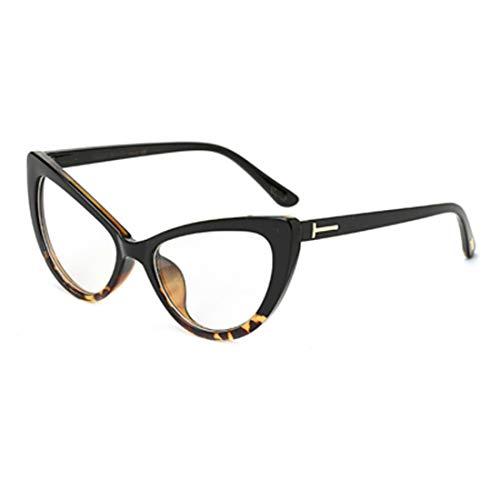 DAIYO Unisex Retro Optische Gläser Einfarbig Bedruckter Kunststoff Vollrand Cat Eye Brillen Mit Klaren Gläsern