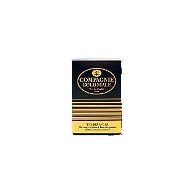 Compagnie Coloniale Les Anges - Thé noir aux fleurs Verbena et Jasmine - 25 sachets de thé en soie