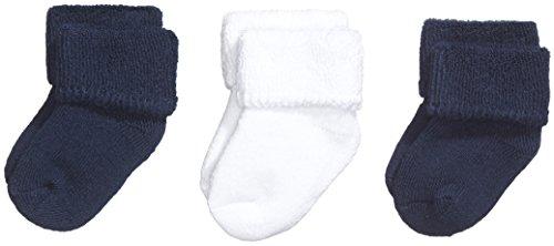 Sterntaler Baby - Jungen Socken, 3Er Pack, Einfarbig, Gr. Neugeborene, Blau (Marine 300)