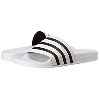 adidas Originals Adilette Slide MenÔÇÖs Sandals, White, UK6
