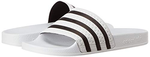 adidas Originals ADILETTE 280648, Unisex - Erwachsene Bade Sandalen, Weiss (WHITE / BLACK 1 / WHITE), EU 39 1/3 (UK 6)