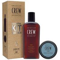 Gifts & Sets by American Crew kit essenziale per uomini con fibra