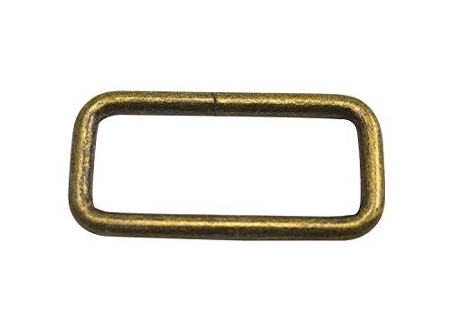wuuycoky Bronze Rechteck Ringe Loop Ring keine geschweißt für Gurtband Gürtel Schnalle, Inner length:2