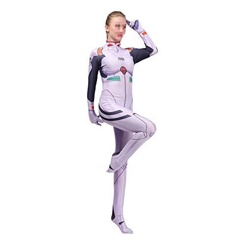 ZYFDFZ Ayanami rei cosplay kostüm bodysuit body movie game show kostüme Cosplay Requisiten (Farbe : Weiß, größe : L) (Ayanami Rei Cosplay Kostüm)