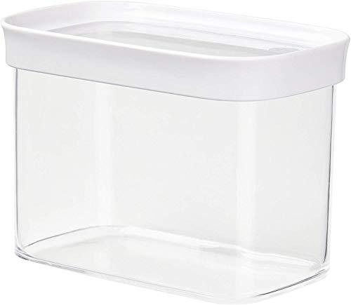 Emsa 513557 Stapelbare Vorratsdose für Trockenvorräte, 1 l, weiß/transparent