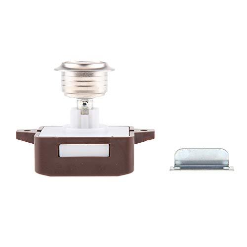 Almencla 14 18mm Push Button Latch Lock Keyless Für RV Cabinet Schrank Braun