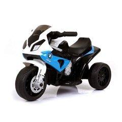 MEDIAWAVE Store Moto elettrica bambini BMW LT883 luci led 6V mp3 da 3 a 8 anni (Blu)
