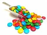 Crispo 880 gmehrfarbige Schokolinsen aus Vollmilchschokolade, kleine bunte Schokolinsen für Süßspeisen und Eis.
