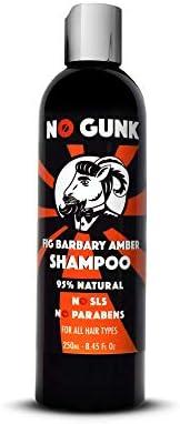 NO GUNK - Shampoo naturale per tutti i tipi di capelli maschili - Senza solfati/SLS e parabeni - Shampoo ai fi