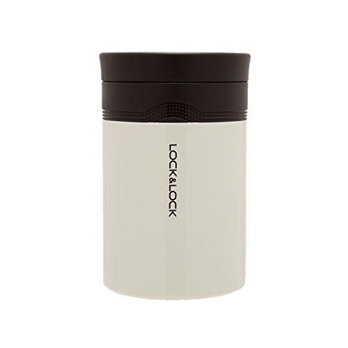 LOCK & LOCK Boîte isotherme alimentaire pour soupe et repas - NEW WAVE FOOD JAR - Récipient isolant en acier inoxydable pour repas - Bol isotherme pour transporter, blanc, 500ml