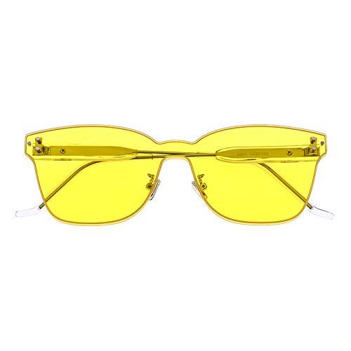 fuqiuwei Sonnenbrillen Quadratische Sonnenbrille Weibliche Rahmenlose Sonnenbrille Rechteckigen Großen Rahmen Gesicht Kleine Brille