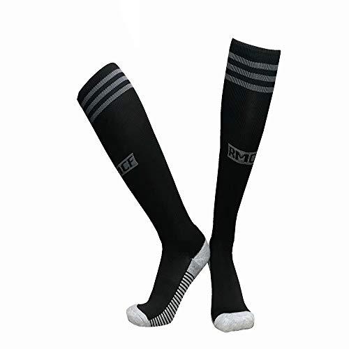 LDQLSQ Kindersocken Schüler neuen Club Slip Outdoor Football Socks Gruppe kaufen Lange Tube über die Knie Sports Training Socks Jugend Fußball-Socken Outdoor Sport,Black