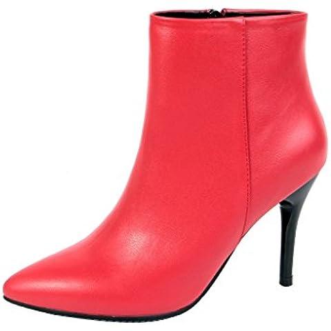 ELEHOT Donna Elefamily name tacco a spillo 9CM Leather
