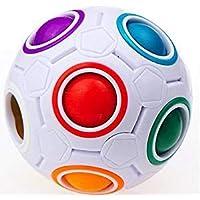 Cubo de rubik profesional redondo. 6,5 Cm. Magic Cube Puzzle Cube Speed 11 Colores de arco iris para resolver