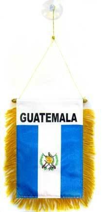 AZ FLAG Fanion Guatemala 15x10cm - Mini Drapeau guatémaltèque 10 x 15 cm spécial Voiture - Bannière