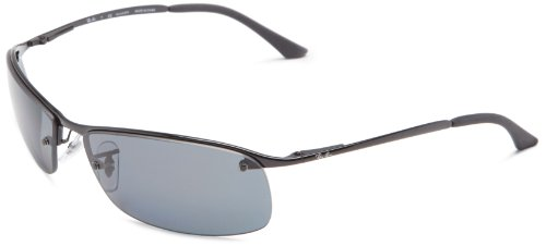 Ray-Ban UV Protected Aviator Men's Sunglasses (0RB3183002/8163|64|Grey)