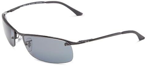 Ray Ban Unisex Sonnenbrille Top Bar, Gr. Large (Herstellergröße: 63), Schwarz (Gestell: schwarz, Gläserfarbe: polarisiert grau verlauf 002/81)