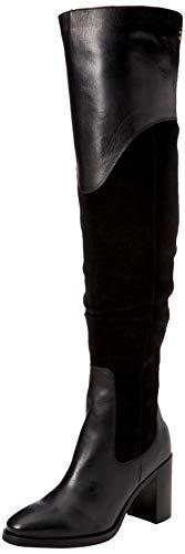 Tommy Hilfiger Material Mix Heeled Boot, Botas Altas para Mujer, Negro (Black 990), 40 EU