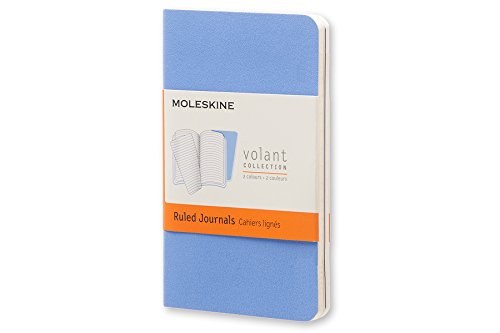 Moleskine Extra Small Volant Powder Blue/Royal Blue Ruled Journal por Moleskine