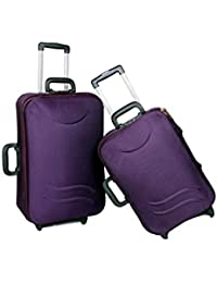 "UNIVERSAL TRAVELLER BAG-STERLING-SET OF 2 BAGS (PURPLE) 24""+20"""