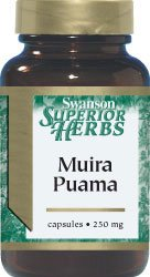 Swanson Muira Puama (5:1) 250mg, 60 Capsules (equivalent to 500mg) from Swanson Health Products