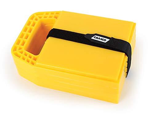 Camco 44595 Unterlegplatten für Wagenheber und Wohnwagenstützen, 4 Stück
