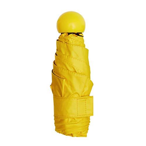 LDPB Tragbarer Taschenschirm, Mini-Taschenschirm/Sonnenschirm, kompakter/tragbarer/Leichter/UV-Schutz Damenmode-Taschenschirm (7,1 Zoll) / Sonnenschirm-A