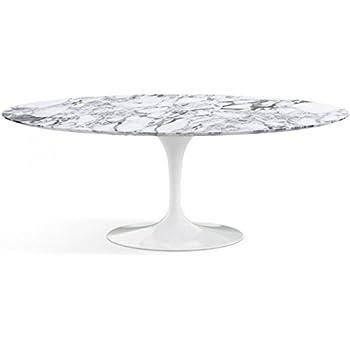 Tavolidesign 160x85 Table Tulip Eero Saarinen Ovale Marbre