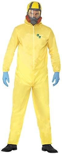 Pet Lab Kostüm - Fancy Me Offizielles Breaking Bad Gelb Hazmat Walter Lab Science TV-Buch Film Halloween Karneval Kostüm Outfit