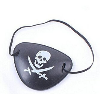 Edealing 4PCS Pirate Augenklappe für Weihnachten Halloween-Kostüm Kinder Spielzeug-Augen-Flecken Blindage Zubehör Piratenpartei mit Flexible (Requisiten Halloween Piraten)