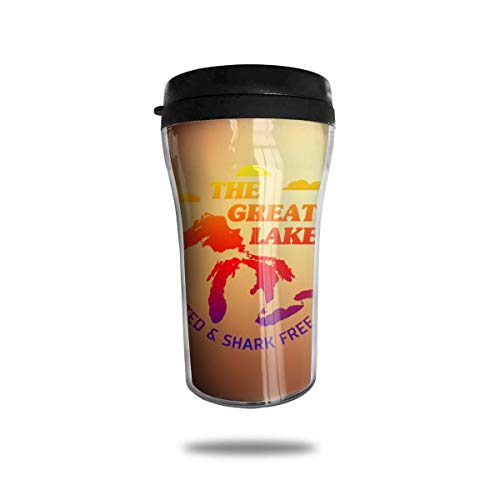 The Great Lakes Unsalted and Shark Free 8.45oz Coffee Mug Birthday Gifts Insulated Travel Mug