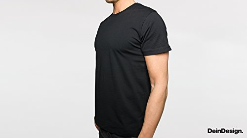 Herren T-Shirt Spruch Statement Fat Fun Schwarz