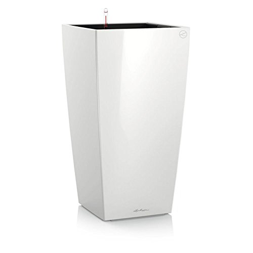 lechuza-premium-cubico-22cm-high-gloss-white-self-watering-41cm-tall-planter-pot