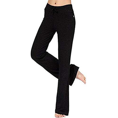 Pantaloni sportivi da donna tinta unita pantaloni sportivi pantaloni a vita bassa morbidi pantaloni casual elastico fitness pantaloni yoga con coulisse moderna e alla moda