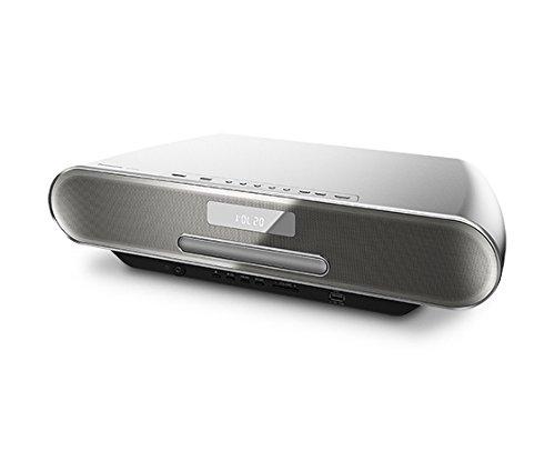 Panasonic SC-RS54EG-S Micro HiFi(40 Watt RMS, Bluetooth, CD,UKW/DAB+, 4 GB Speicher) silber