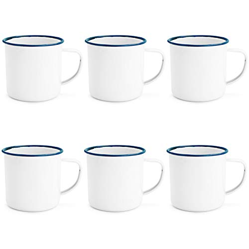 -Kaffee/Teetassen Drink - 240ml - Blau-Ordnung - Packung mit 6 ()