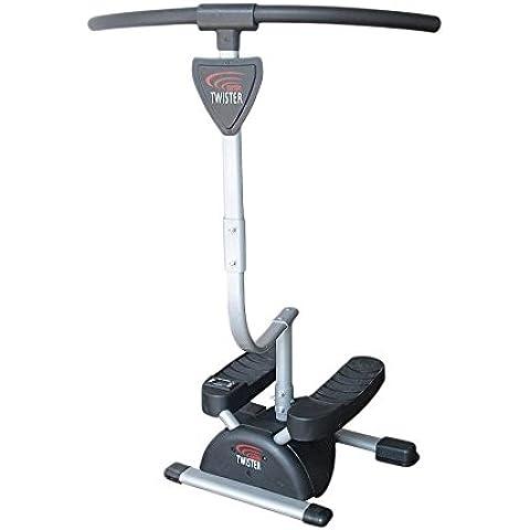 Fitness House Cardio Twister - Aparato para piernas y glúteos, color gris
