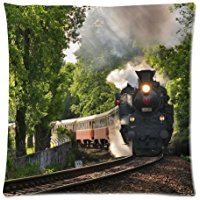 train-steam-engine-two-sides-square-zippered-super-luxury-pillow-encasement-18x18-inch