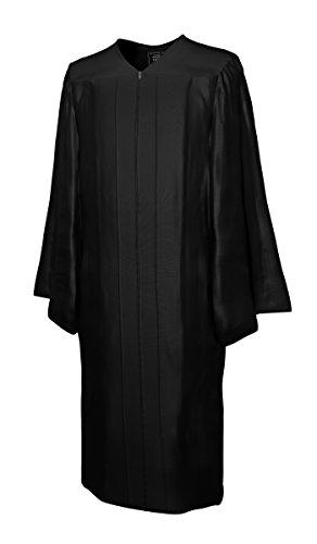 College Fashion - Doktorhüte,Talare, Accessoires Talar GLANZ, schwarz, Größe S -